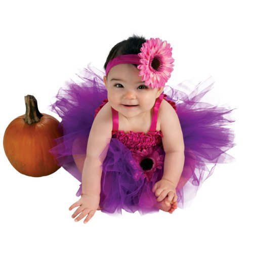 Rubie's Costume Co Newborn Baby-girls Pink Flower Tutu Dress, Pink/Purple, 6-9 Months