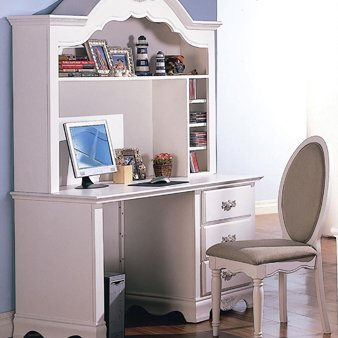 Buy Low Price Comfortable Sophie Romantic White Computer Desk by Coaster Furniture (B0038LQ6WY)