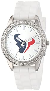 Game Time Ladies NFL-FRO-HOU Frost NFL Series Houston Texans 3-Hand Analog Watch by Game Time