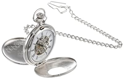 Charles-Hubert Pocket Watch 3564 Chrome Plated Double Half Hunter