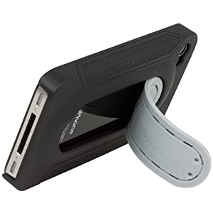 New Trent iCute Kickstand Case (IMP69B) for iPhone 4s 4 for AT&T,Sprint and Verizon black color