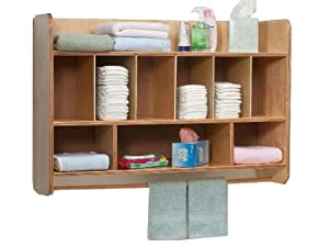 Whitney Brothers Birch Laminate Wave Hang On The Wall Diaper Unit from Whitney Brothers
