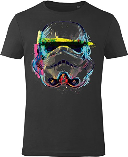 GOZOO Star Wars T-shirt Uomo Imperial Stormtrooper NEON Sketch Art 100% Cotone, Stampa di Alta Qualitá 2XL