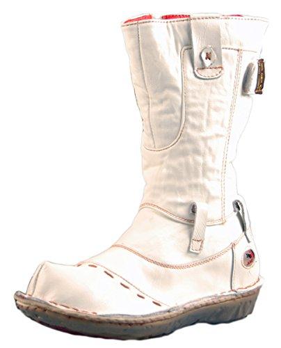 Leder Stiefel Weiß Damen Schuhe echt Leder Winter Damenstiefel gefüttert Gr. 38