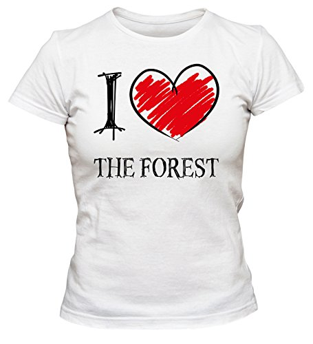 i-love-the-forest-fun-damen-t-shirt-weiss-xl