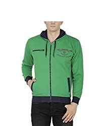 Avas Men's Cotton Sweatshirt (A_49_Green Blue_Large)
