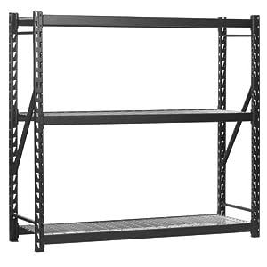 edsal 3 shelf industrial storage rack 72in. Black Bedroom Furniture Sets. Home Design Ideas