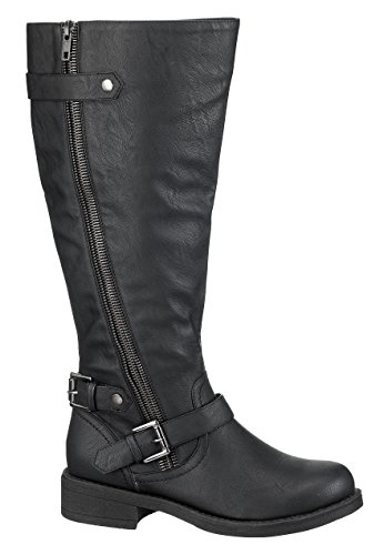 Maurices Women's Winnie Wide Calf Riding Boot In Black 10 Wide / Black