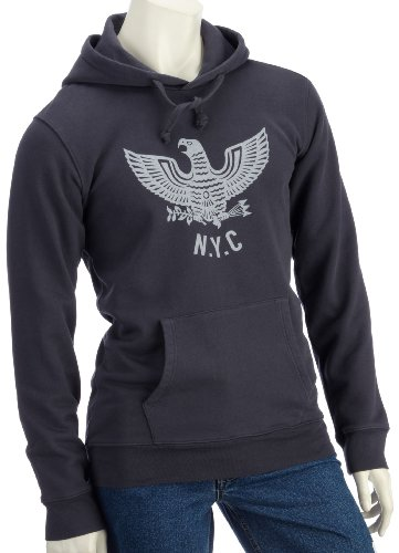 Lost Property by Worn Free Mens NYC Eagle Hoodie Black XS