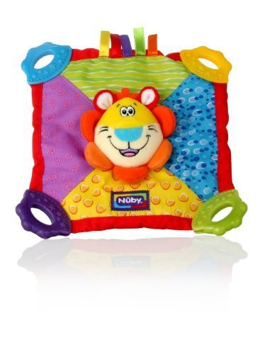 Nuby Plush Teething Blankie, Lion, BPA-Free - 1
