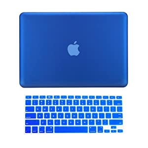"""TopCase® 2 in 1 Rubberized ROYAL BLUE Hard Case Cover and Keyboard Cover for Macbook Pro 13-inch 13"""" (A1278/with or without Thunderbolt) with TopCase® Mouse Pad"""