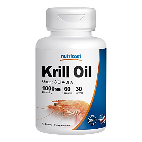 Nutricost krill oil 1000mg 60 liquid softgels omega 3 for Is krill oil better than fish oil