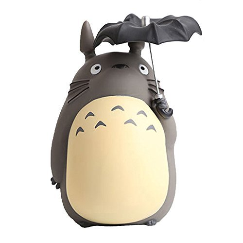 Anime Cartoon Totoro with Umbrella Action Figure Piggy Bank - Cool Gift For Boys & Girls