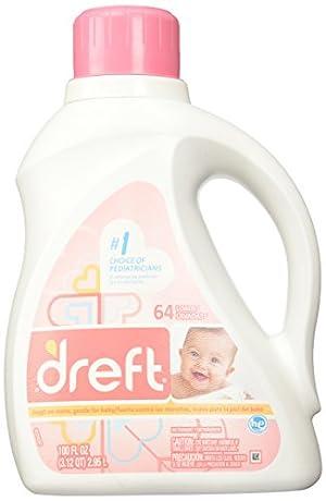 Dreft Stage 1: Newborn Liquid Laundry Detergent , 100 oz, 64 loads