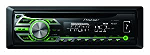 Autoradio USB Pioneer DEH-1500UBG vert-Autoradios
