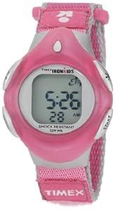 Timex Kids' T7B211 IronKids Digital Pink Fast Wrap Velcro Strap Watch