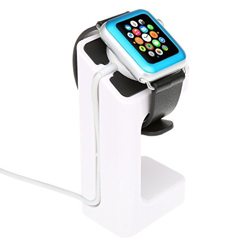 EasySMX Apple Watch Stand Charging Stand Bracket Docking Station Stock Cradle Holder for Both 38mm and 42mm (White)