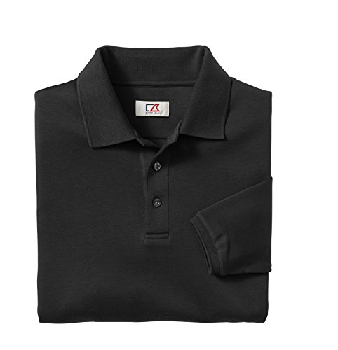 Cutter & Buck Men'S Big-Tall Long Sleeve Brokers Bay Polo Shirt, Black, 1X/Big