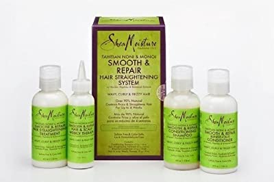 SheaMoisture Tahitian Noni & Monoi Oil Smooth & Repair Hair Straightening System