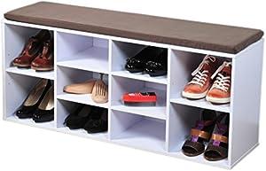 Kesper banc de rangement chaussures avec coussin d - Amazon rangement chaussures ...