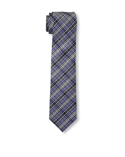 Ben Sherman Men's Grid Tie, Purple