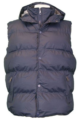 New Mens Padded Gilet / Body Warmer, Style Mclarens, In Navy, Size Small