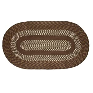 Click to buy Cabin Rugs: Cambridge Brown Braided Rug  from Amazon!