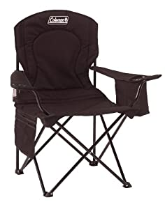 Coleman Broadband Quad Chair with Cooler, Black