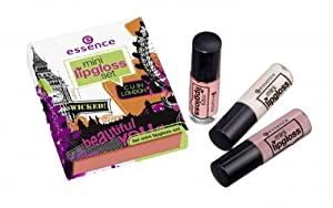 Essence Mini Lip Gloss Set London Calling 3 Stylish & Shiny Mini Lipglosses New in Box