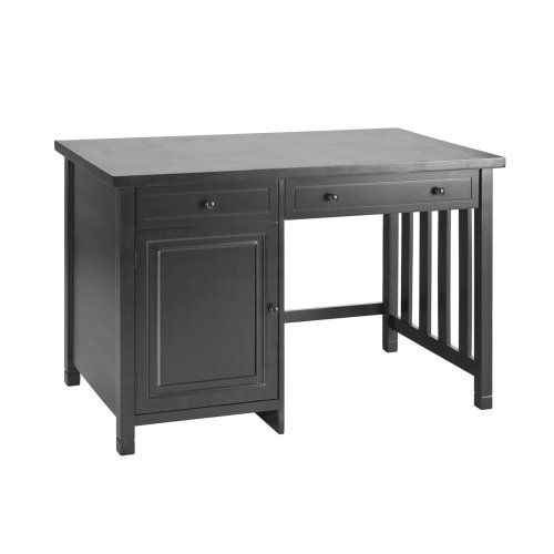 Buy Low Price Comfortable SEI Ming Black Computer Desk with Cabinet, Drawer, and Keyboard Tray (B001QOGLG6)