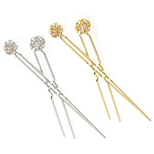 Caravan Fire Ball Hair Pin Pair Model No. 5026/2 (Assorted Colors)