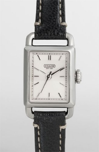 Coach Womens Hamptons Black Strap Watch #14501256