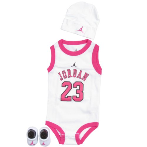 Michael Jordan 3-Piece Infant Set Size 0-6 Months In Pink and White