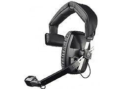 Beyerdynamic DT-108-200-400-BLACK Single-Ear Headset with Dynamic Hypercardioid Microphone 400 Ohms Black