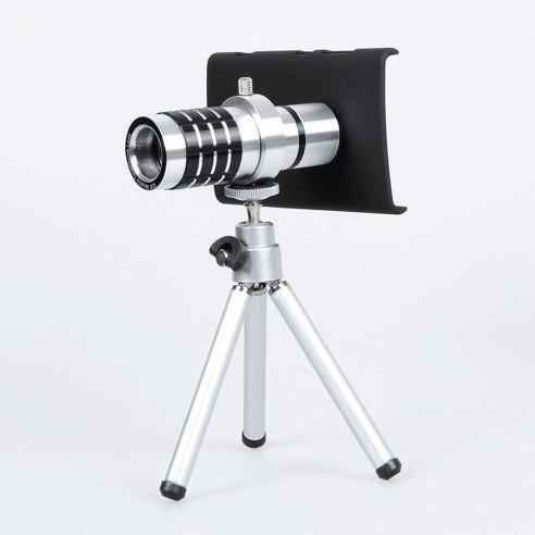 Aluminium 12X Optical Zoom Telescope Camera Lens With Mini Tripod For Nokia Lumia 920