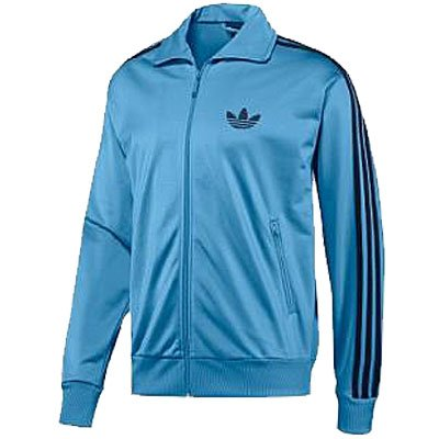 Adidas Adicolor Firebird Track Top Jacket Sky-Blue Mens Zipper Size Blue L