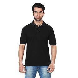 Trenders Polo Black Color T Shirt super soft poly cotton