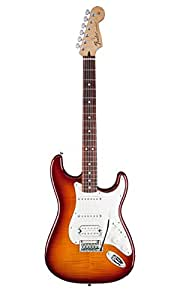 Fender Deluxe Strat HSS Plus Top w/iOS Interface RW Tobacco Sunburst Solid-Body Electric Guitar