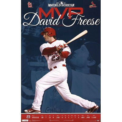 (22x34) St Louis Cardinals David Freese 2011 World Series MVP Sports Poster Print at Amazon.com