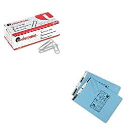 KITUNV15431UNV72220 - Value Kit - Universal Pressboard Hanging Data Binder (UNV15431) and Universal Smooth Paper Clips (UNV72220)