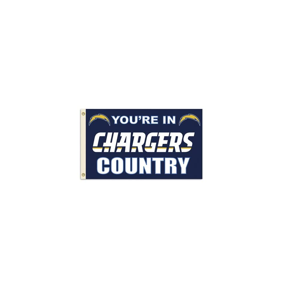 BSS   San Diego Chargers NFL Youre in Chargers Country 3x5 Banner Flag
