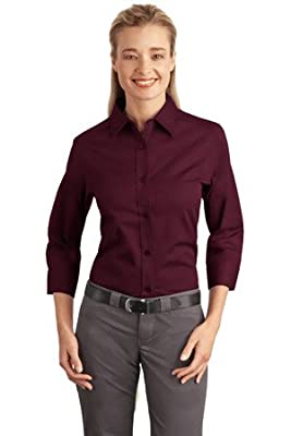 Port Authority Women's 3/4 Sleeve Easy Care Shirt