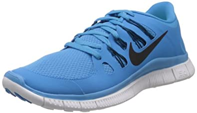 Nike Free 5.0+ - Vivid Blue / Black-Green Abyss-Summit White, 8 D US