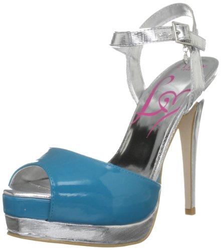 Lipsy Women's Jalouse Turquoise/Silver Platform Heels 2869877979 6 UK