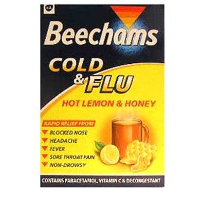 Beechams Cold & Flu Hot Lemon & Honey 5 [Personal Care]