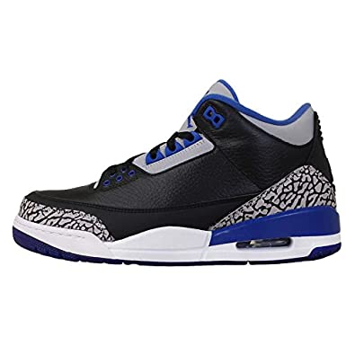 Nike - Air Jordan 3 Retro Sport Blue - Coleur: Black-Blue