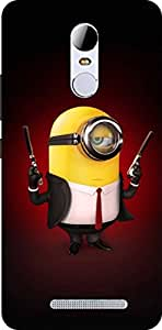 Dot Print Angry Minion Printed Back Cover For Xiaomi Redmi Note 3