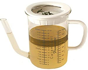 Catamount Glassware 4-Cup Gravy Separator with Strainer by Catamount