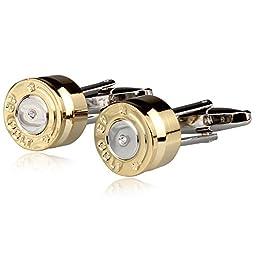 Bullet Casing Cufflinks by Cuff-Daddy