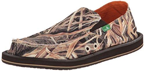Sanuk Men's Vagabond Blades Slip-On Loafer, Mossy Oak, 12 M